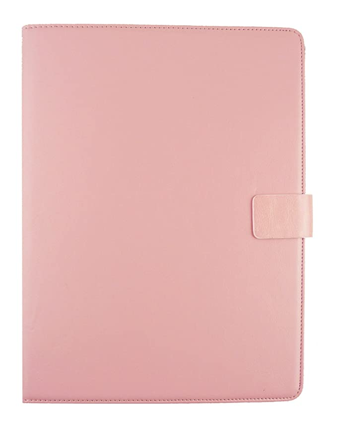 Emartbuy Vodafone Tab Speed 6 4G Tablet 8 Inch Universal Range Flower Girl Multi Angle Executive Folio Wallet Case Cover With Card Slots Hot Pink Stylus