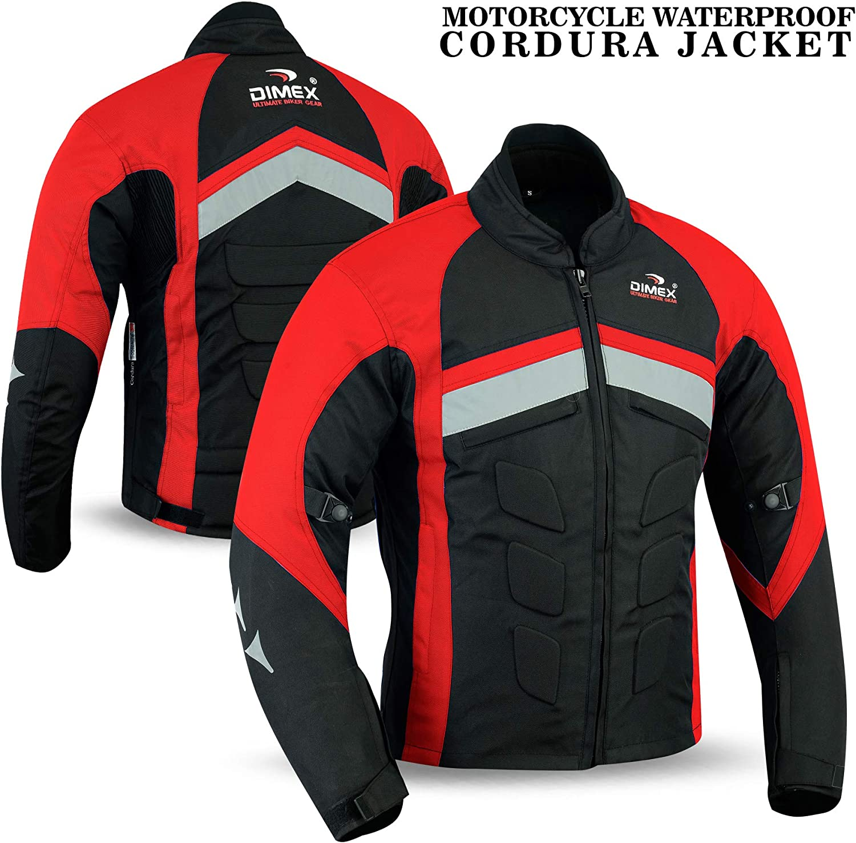 XL, Grey Mens Motorcycle Waterproof Cordura Textile Jacket Motorbike CE Armours