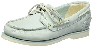 Womens Classic Unlined Boatstone Escape Boat Shoes, Blue Timberland