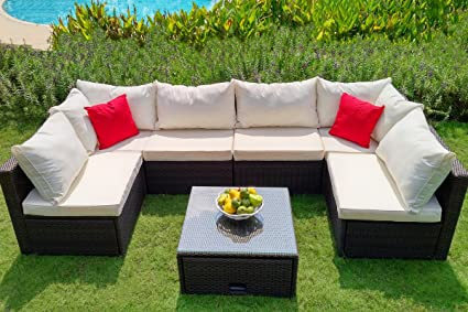 Weatherproof Since 1948 WEATHERPROOF Outdoor Patio 7 Piece Furniture Set  With Coffee Table, All