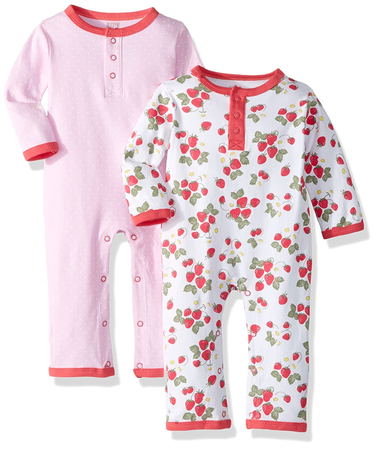 Hudson Baby Unisex-Baby Baby Cotton Union Suit, 2 Pack 101509