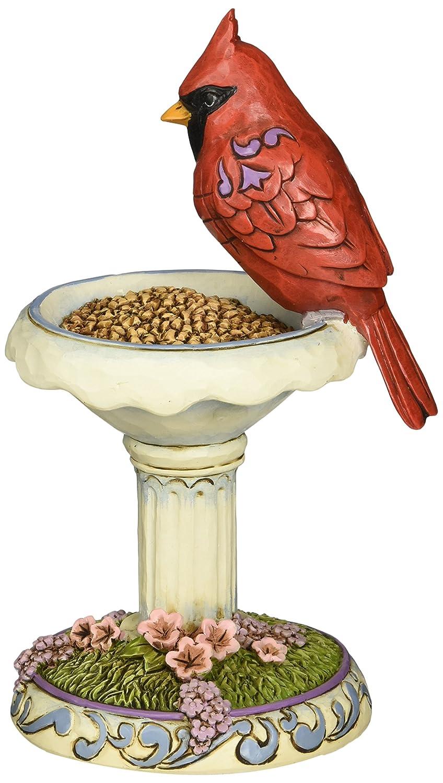 Enesco Jim Shore Heartwood Creek Cardinal with Birdbath Figurine, 6.5 IN