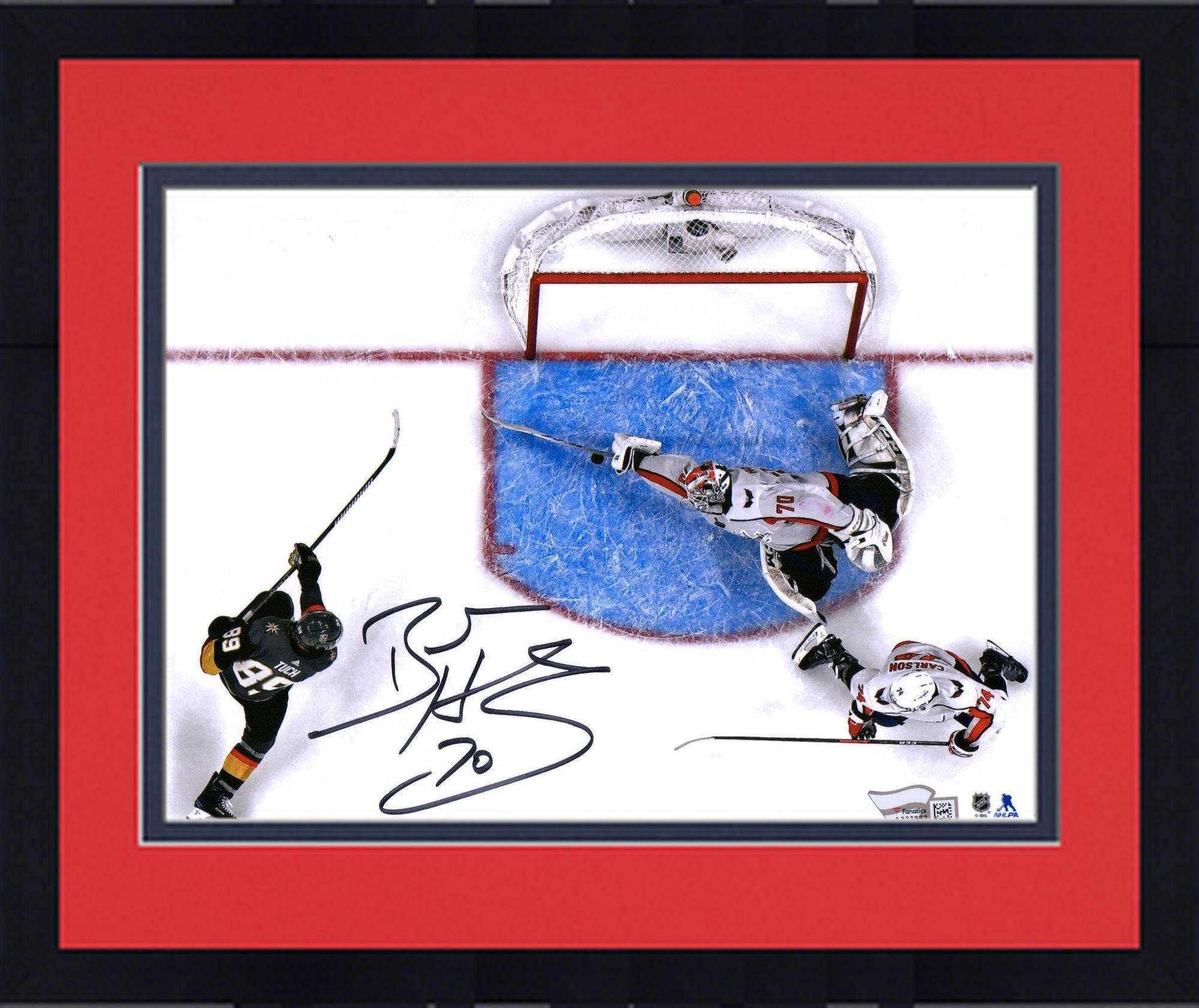 """Framed Braden Holtby Washington Capitals 2018 Stanley Cup Champions Autographed 8"""" x 10"""" Making Save Photograph Fanatics Authentic Certified"""