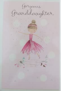 Amazon granddaughter happy birthday love you greeting card gorgeous granddaughter ballerina happy birthday with love greeting card bookmarktalkfo