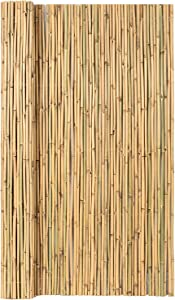 Mininfa Natural Rolled Bamboo Fence, Eco-Friendly Bamboo Fencing, 0.7 in D x 6 feet High x 8 feet Long, Bamboo Screen for Garden, Privacy