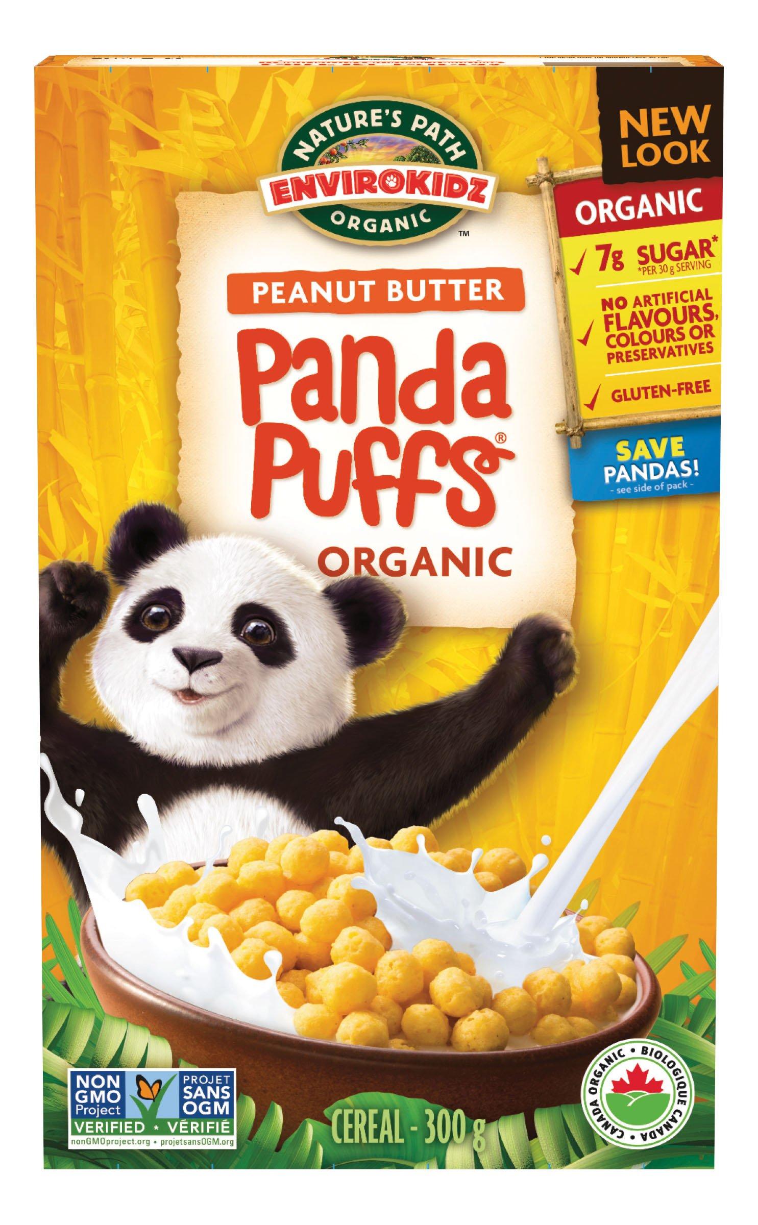 EnviroKidz Peanut Butter Panda Puffs Frees Cereal, 10.6 oz