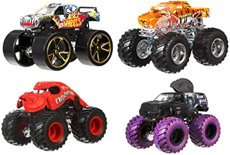 Amazon Com Hot Wheels Monster Jam Tour Favorites Styles May Vary