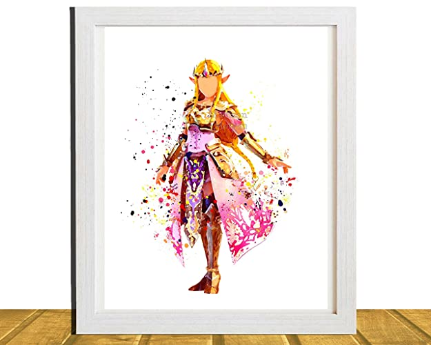 Amazon.com: Zelda, Gamer Inspired Wall Art, Princess Zelda ...