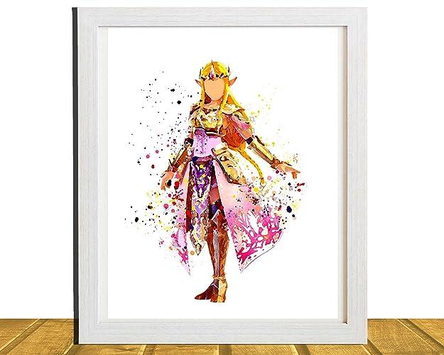 Amazon.com: Zelda, Gamer Inspired Wall Art, Princess Zelda ...