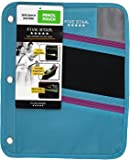 Five Star Zipper Pouch, Pencil Pouch, Pen Holder, Fits 3 Ring Binders, Assorted, Color Selected For You, 1 Count (50642)