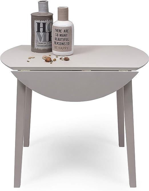 Mesa de Comedor o Cocina Redonda Extensible Dallas de 90 cm de ...