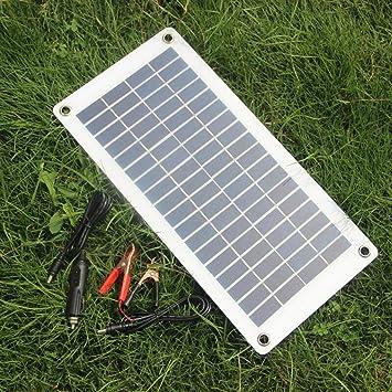 Lorenlli 12W 18V Cargador de Panel Solar Cargador de Batería ...