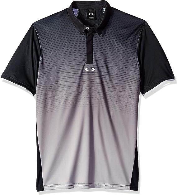 Oakley Mens Polo Shirt Ss Poliammide, Blackout, XL: Amazon.es ...