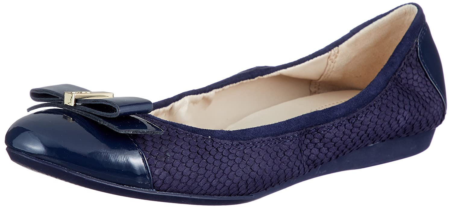 Cole Haan Women's Elsie Ii Ballet Flat B079J69X2P 8 B(M) US|Marine Blue Embossed Suede/Leather