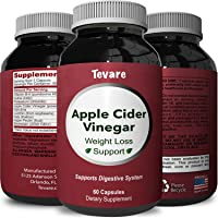 Natural Apple Cider Vinegar Supplement for Weight Loss - Pure Metabolism Booster and Fast Acting Fat Burner for Men and Women - Extra Strength Appetite Suppressant Diet Pills - 60 Capsules