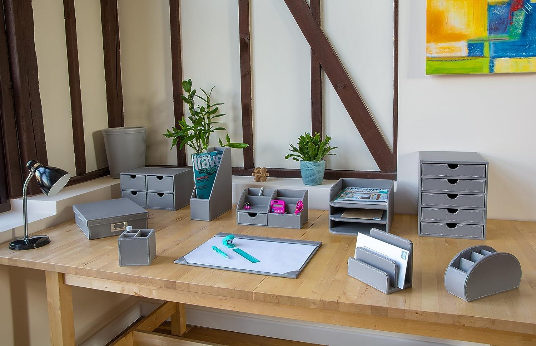 Osco Kunstleder 3 Etagen grypu3dtt Designer Briefablage – Grau Beste ...