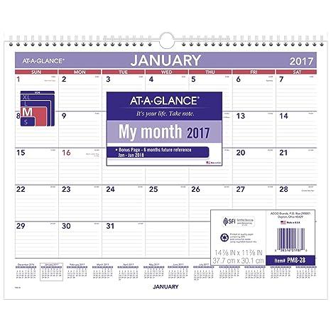 Nfr Calendar.At A Glance Wall Calendar 2017 Monthly 14 7 8 X 11 7 8 Wirebound Pm828
