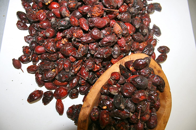 Organic Bio Herbs-Organic Dried Rosehip Fruit Whole (Rosa Canina) 4 Oz.