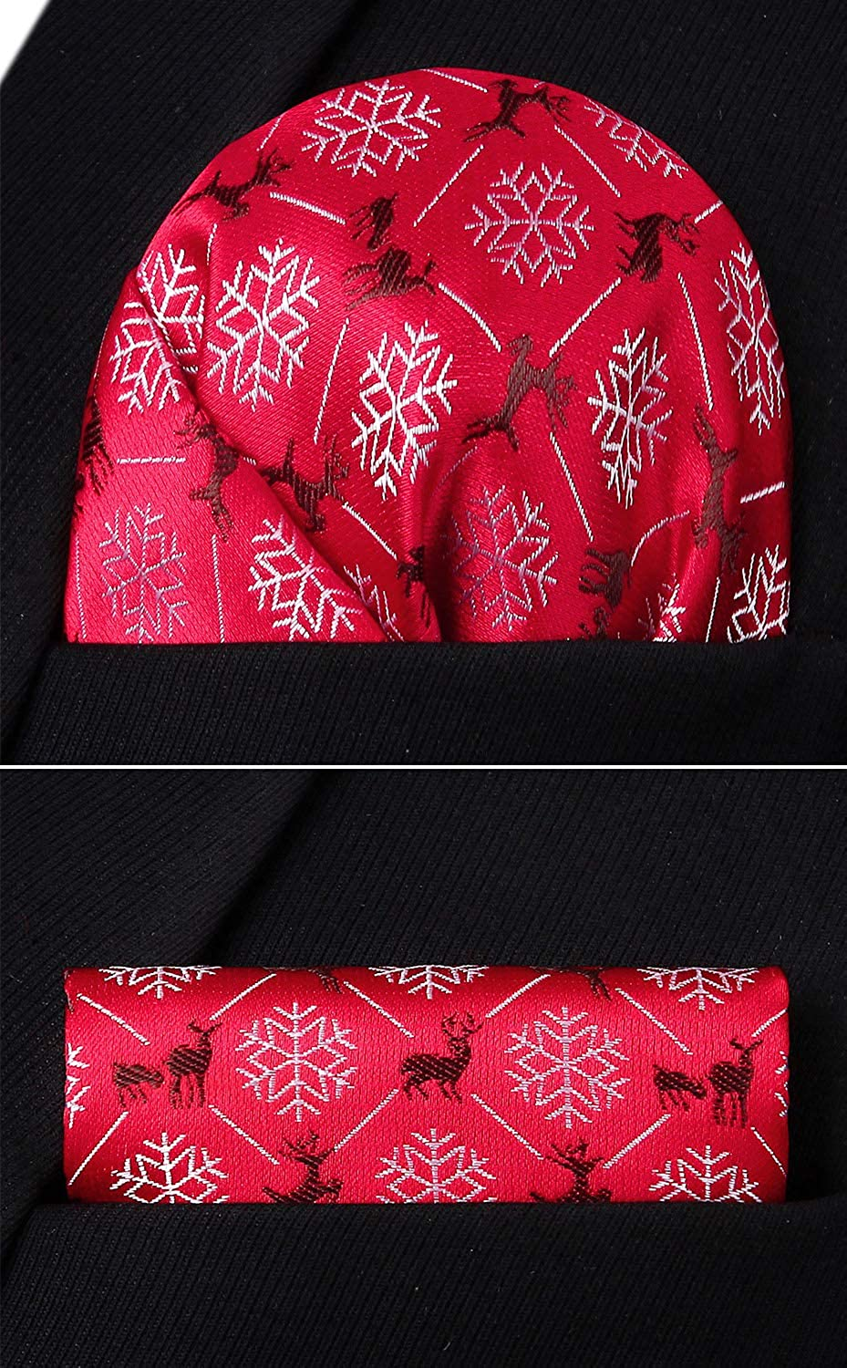 Enlision Mens Christmas Bowties Jacquard Woven Party Self Bow Tie Set