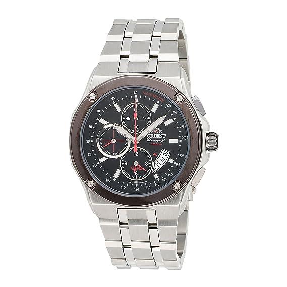 Orient Caballero CTD0S003B 100m Alarm cron-grafo in 1/5 Second, Small Second Hand, Date Black Reloj: Amazon.es: Relojes