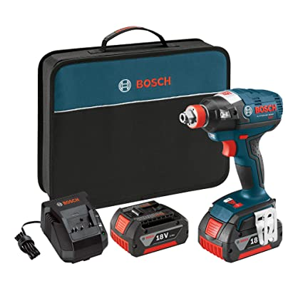 Bosch IDH182-01 18V Brushless Socket Ready Impact Driver with 2 Batteries, Charger and Case