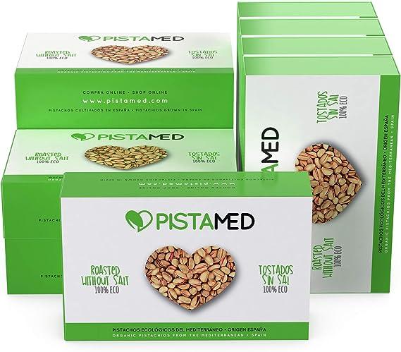 Pistachos ecológicos PISTAMED - 1kg. Tostado artesanal SIN SAL - Origen España (10 cajas de 100 gr.): Amazon.es: Alimentación y bebidas