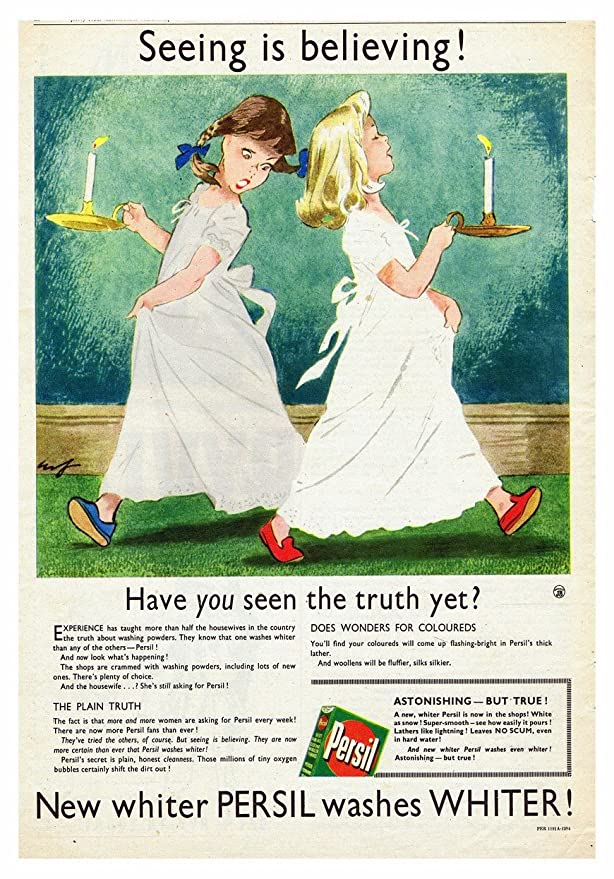 Persil Wollens Vintage Retro Poster Washing Advert Print Picture Cloth Photo
