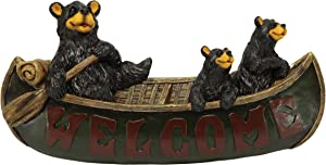 River's Edge Products Welcome Sign - Bears in Canoe