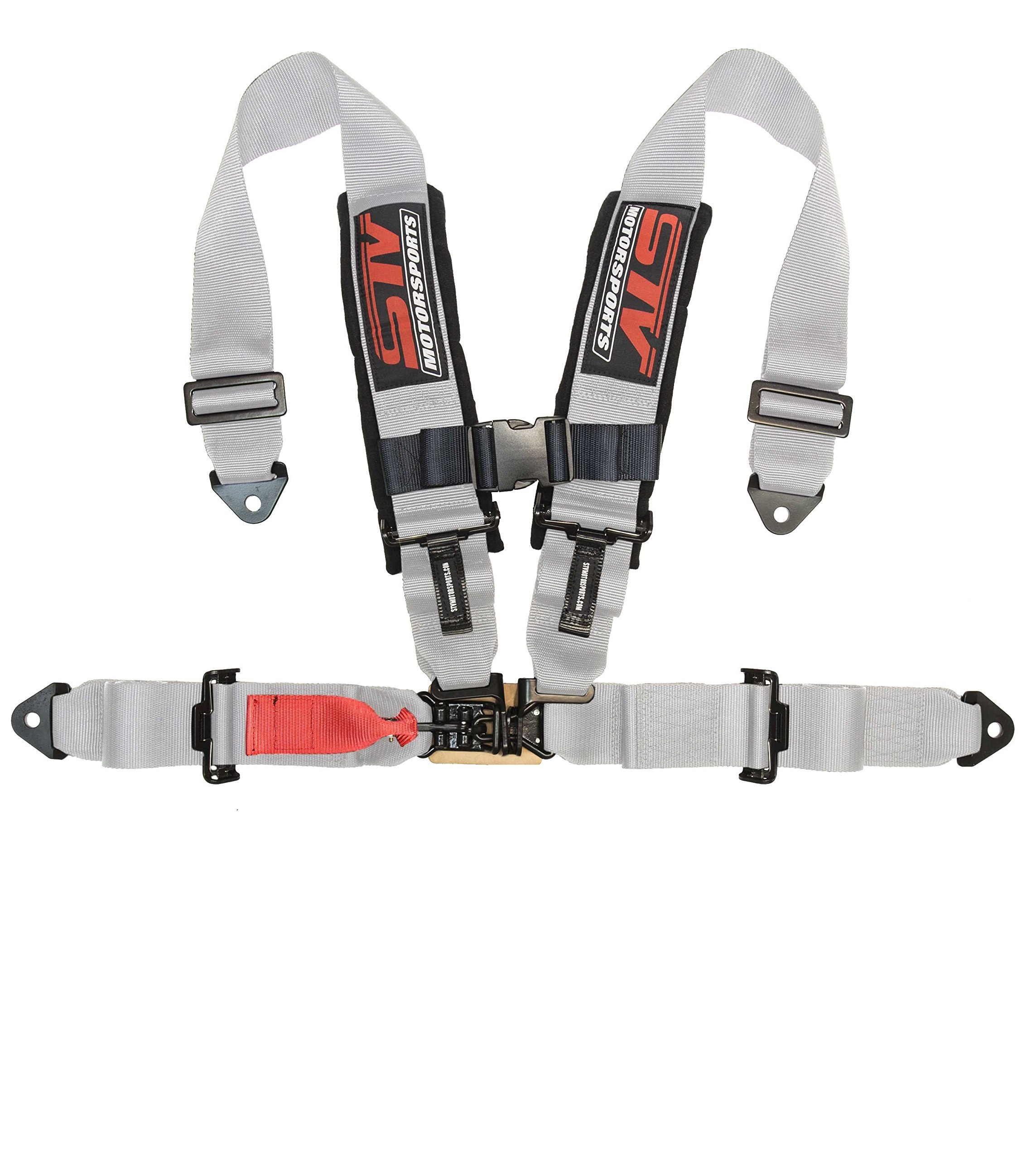 Universal 4-Point Harness - Off-road - Racing Style - 2'' Pads - Latch and Link (Single) (Gray)