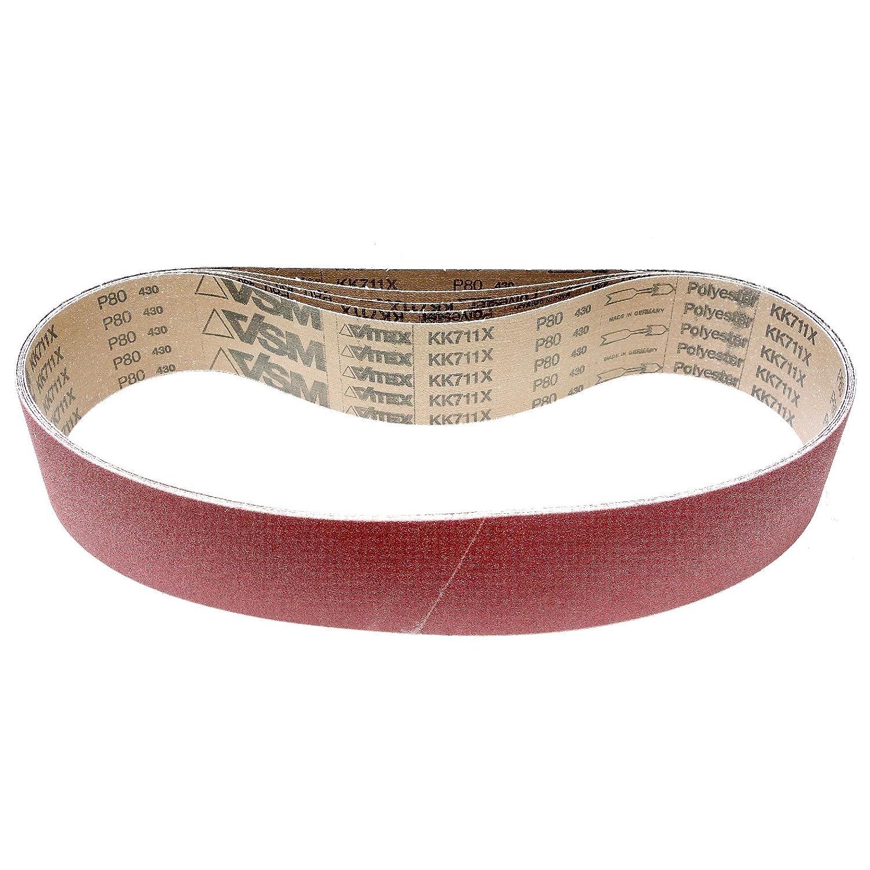 VSM 37 x 75 Wide Sanding Belts KK711X A/O 100 Grit, 5/Pack