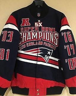 Amazon.com   New England Patriots Suede Jacket Leather Patriots Coat ... 3cccc160d