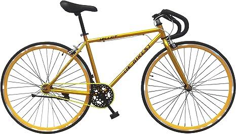 Helliot Bikes Soho 05 Bicicleta Fixie Urbana, Adultos Unisex, Oro, ML