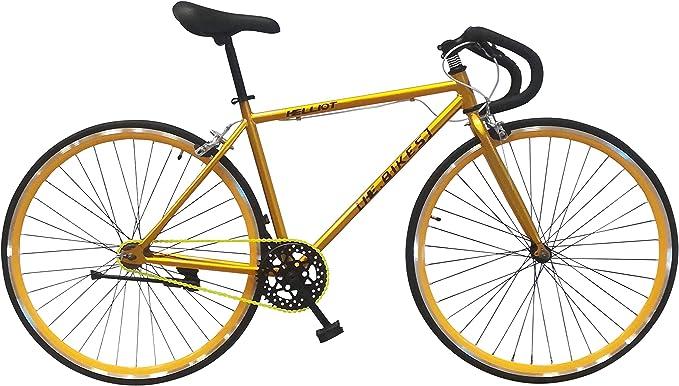 Helliot Bikes Soho 05 Bicicleta Fixie Urbana, Adultos Unisex, Oro ...