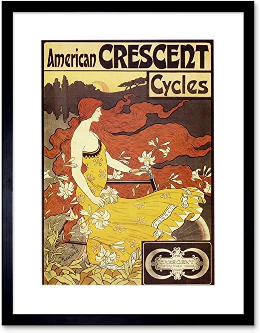 Crescent Bicycles Wall art. Vintage Cycle advertising Reproduction poster