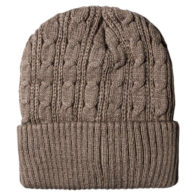 709790e0a8e Loritta Mens Winter Warm Knitting Hats Wool Baggy Slouchy Beanie Hat Skull  Cap at Amazon Men s Clothing store