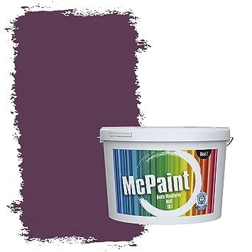 Mcpaint Bunte Wandfarbe Matt Für Innen Aubergine 10 Liter Weitere