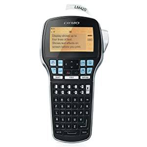 DYMO LabelManager 420P High Performance Rechargeable Portable Label Maker with PC or Mac connection (1768815)