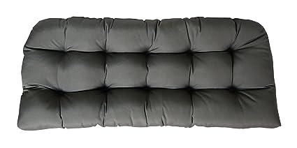 Amazon.com: Sunbrella lona Love asiento cojín de carbón ...