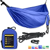 Amazon Price History for:Double Eagle Camping Hammock Set - Incl. 2 carabiners and 2 ropes - 118 x 78 in - 600 lbs load - Top Rated Best Quality Lightweight Parachute Nylon 210T. X-MAS GIFT. 2 YEARS-WARRANTY.
