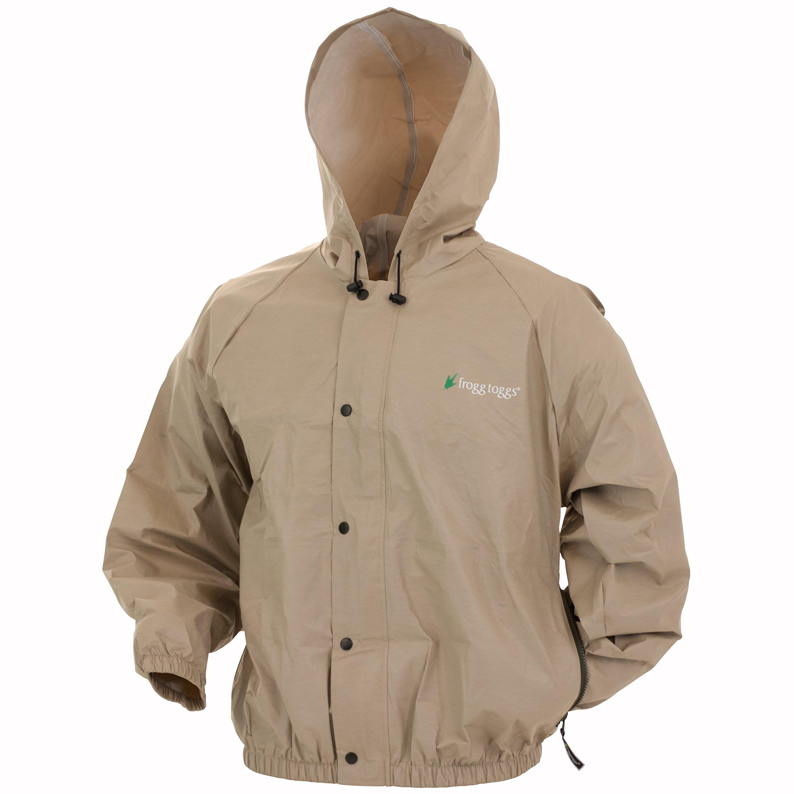 Frogg Toggs PL62111-04 Pro Lite rain jacket Khaki XL/XXL