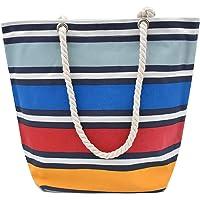 SAFIRIT, Bolsa de Playa de manta con cierre (Multicolor)