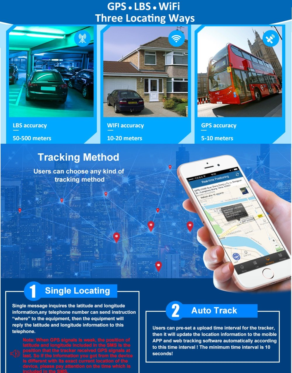 3G GPS Tracker Car Tracking Device Vehicle GPS Tracker Magnetic WIFI GPS Locator 20000mAh Battery Waterproof IP67 Prazata (3G Tracker 20000mAh Battery) by Prazata (Image #7)