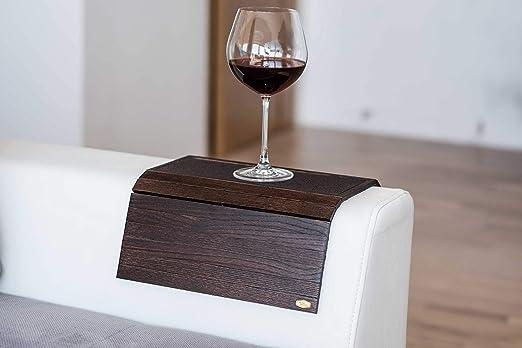 Bandeja de madera para sofá con reposabrazos, para sofá, mesa ...