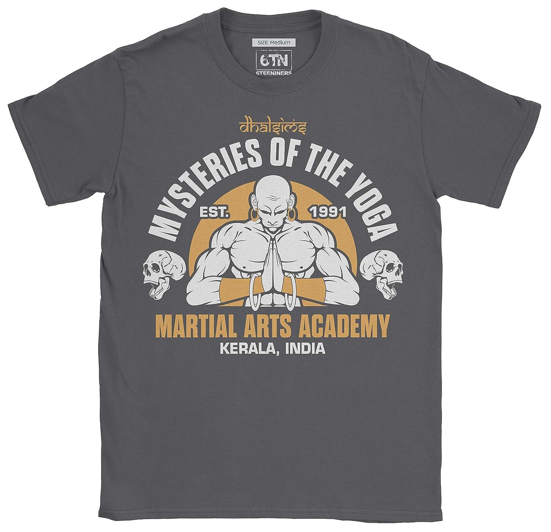 6TN Uomo Dhalsims Mysteries of Yoga Martial Arts Academy Maglietta