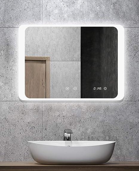 Alldrei Miroir De Salle De Bain Avec Eclairage Ad026a Anti Buee