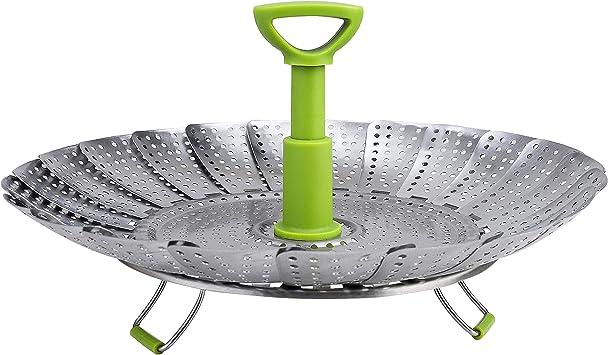DY/_Jin Vassoio Pieghevole per cestini per Alimenti e Verdure da 9a 11 - Inserto per pentola Pieghevole in Acciaio Inox per Cottura di Pesce con Verdure Veggie 11 inch