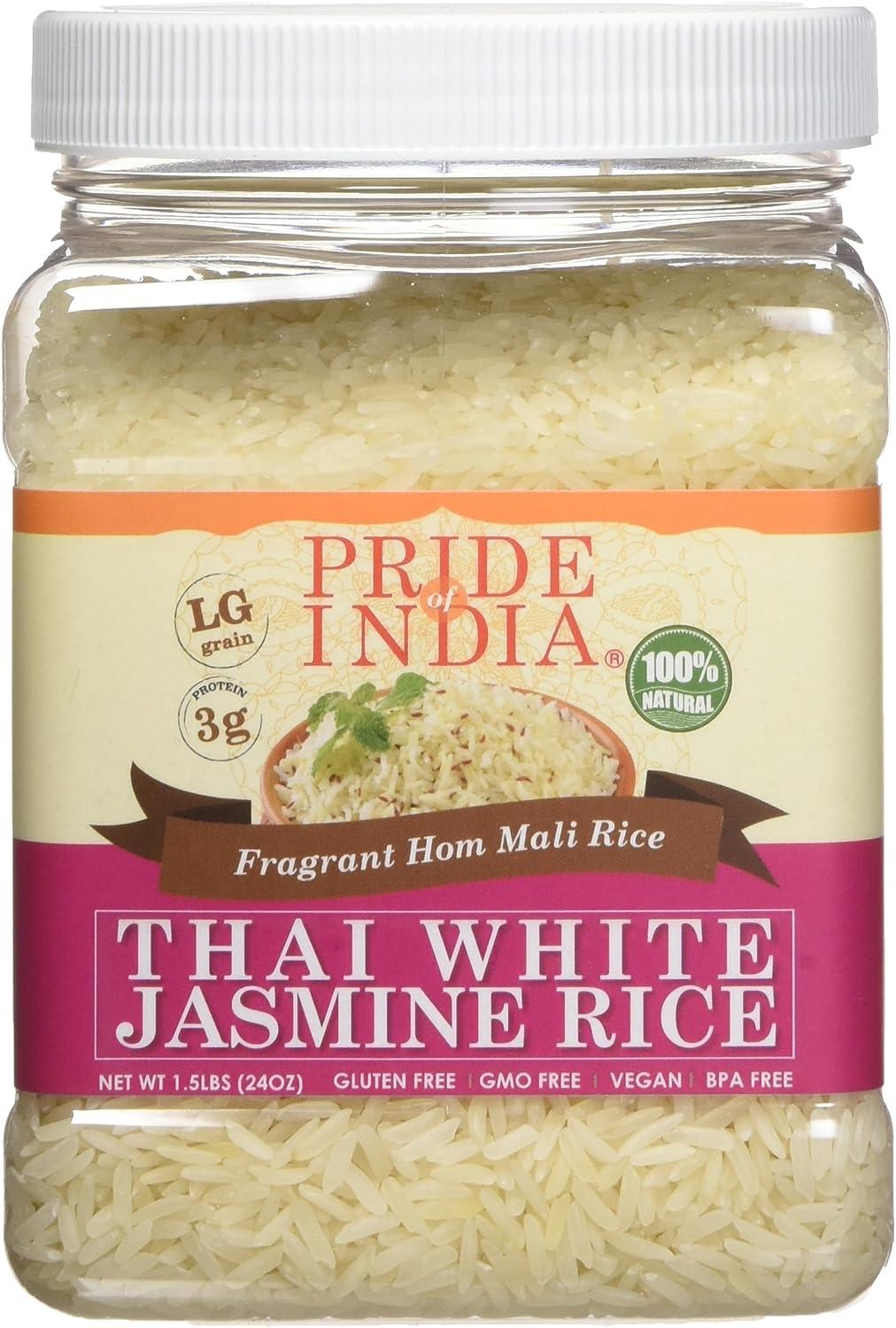 El orgullo de la India tailandés fragante jazmín blanco Hom Mali ...