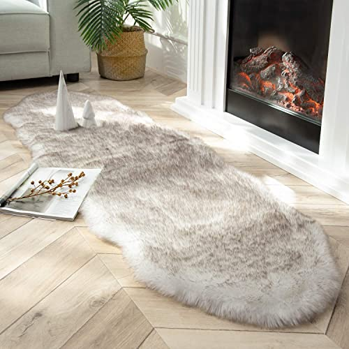 Ashler Soft Fox Faux Fur Chair Couch Cover Area Rug