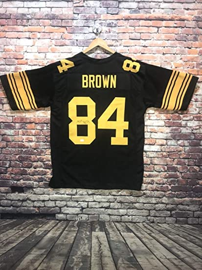 90ef85544fc Image Unavailable. Image not available for. Color  Antonio Brown  Autographed Signed Pro Style Color Rush Jersey (Size XL) JSA Witness