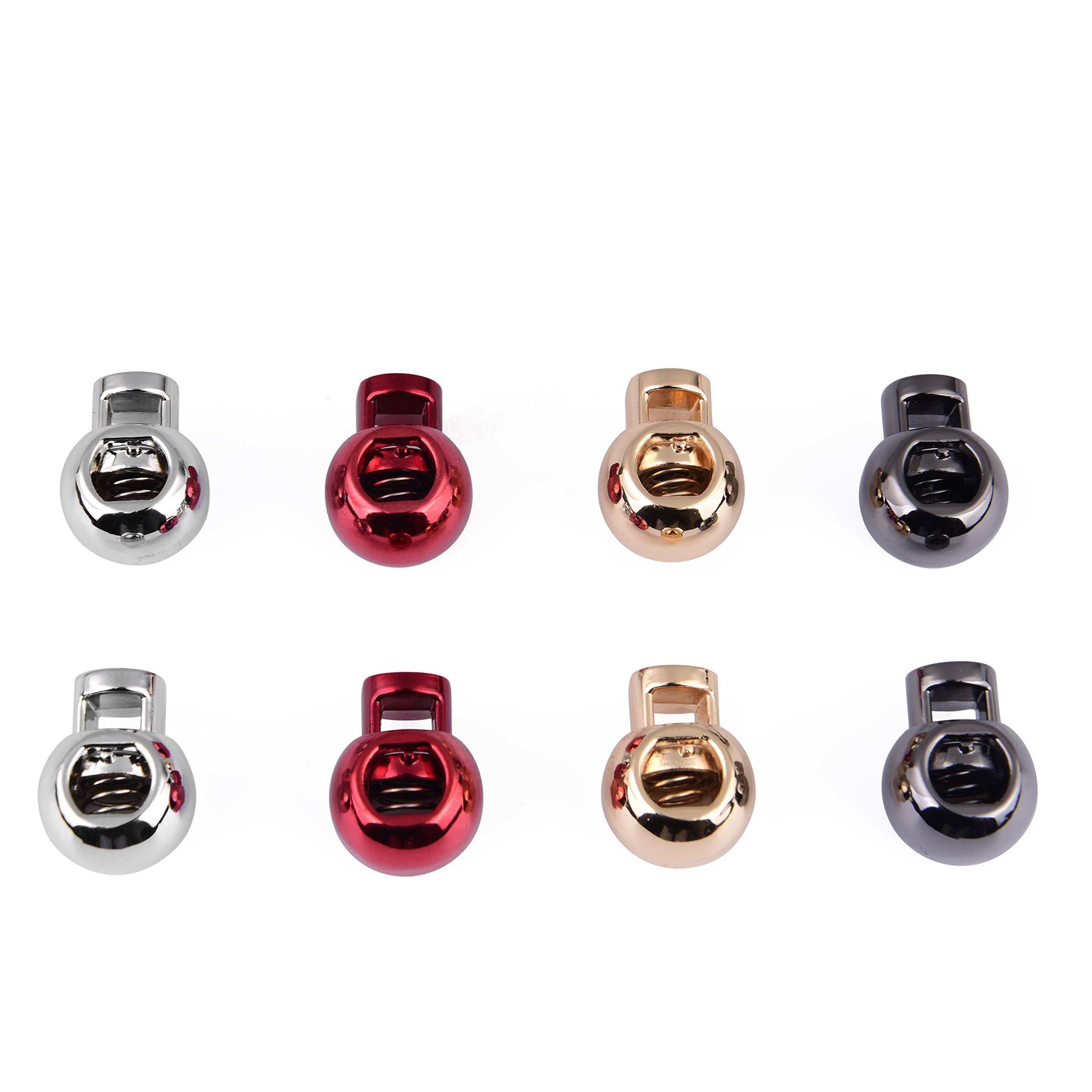 MKSF (My Kick Stay Fresh), Lace Lock Shoelace Charms, Color: Gold, Silver, Red, Black, Count: 8/Pack